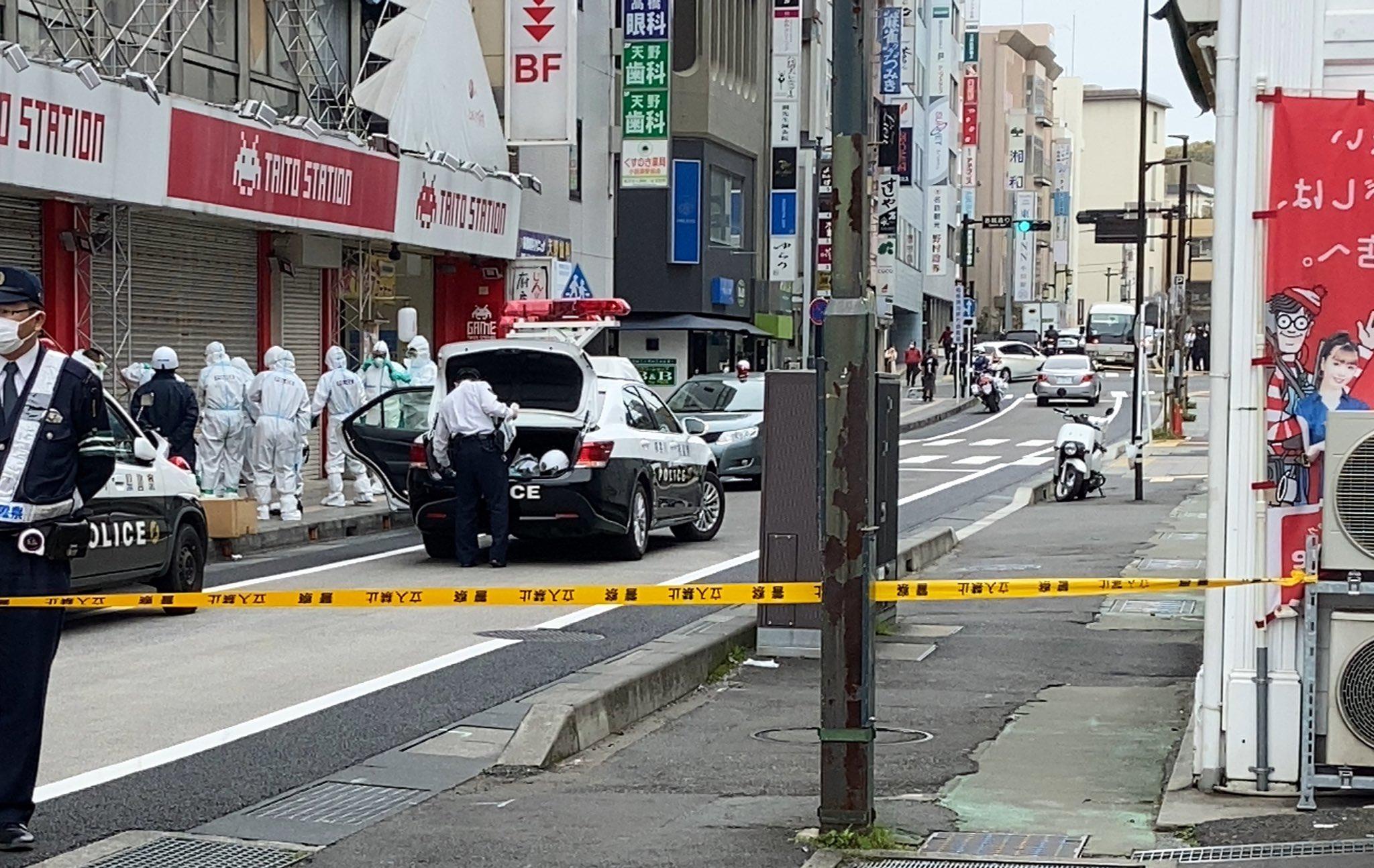 小田原タイトーステーション前でコロナ騒ぎが起きた現場の画像
