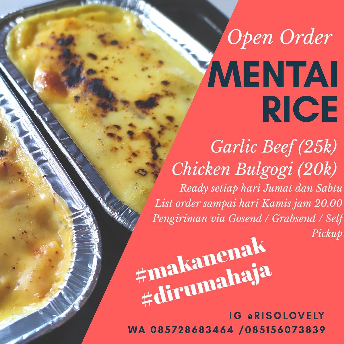 Halo fwrenss PO Mentai Rice dibuka lagi yaaa Sekarang readynya hari Jumat dan Sabtu hehe yang mau #makanenak #dirumahaja cus diorder yak  (pengiriman dari Bejen, Karanganyar)  @karanganyarku @Bumi_Intanpari @kulinersolorayapic.twitter.com/jjxm4lNd6f