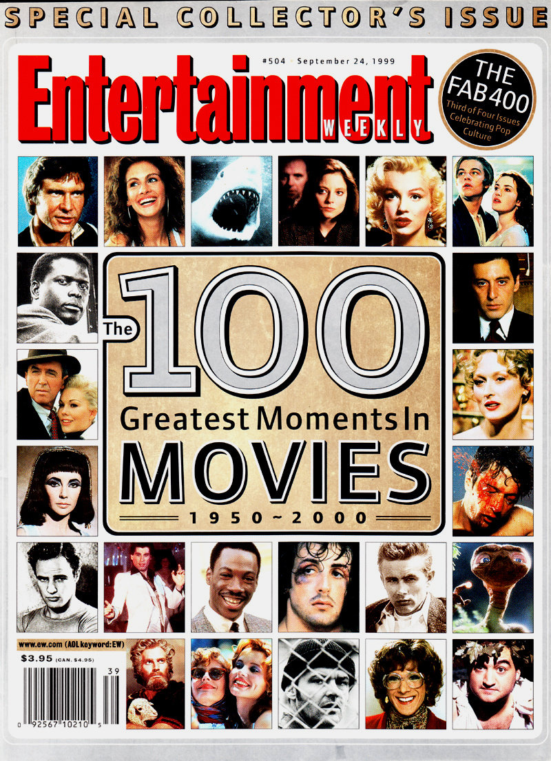 Excited to share the latest addition to my #etsy shop: Entertainment Weekly – 100 Greatest Moments in Movies - 1950-2000 - September 1999 – NM/Mint! https://etsy.me/2Jo90fp #booksandzines #zine #historicalphotos #classicphotos #magazinecover #history #vintage #photograpic.twitter.com/tKbXy9Fl55