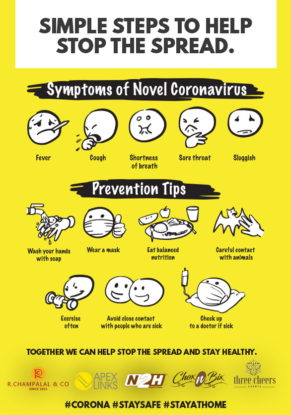 Simple steps to help stop the spread. Together we can help stop the spread and stay healthy. #Corona #StaySafe #StayAtHome https://t.co/igGq8FelRE