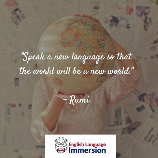 """Speak a new language so that the world will be a new world."" #MondayMotivation #LearnEnglish #SpeakEnglish #SejourLinguistique #PetitsPrixpic.twitter.com/JKZSdxw6pr"