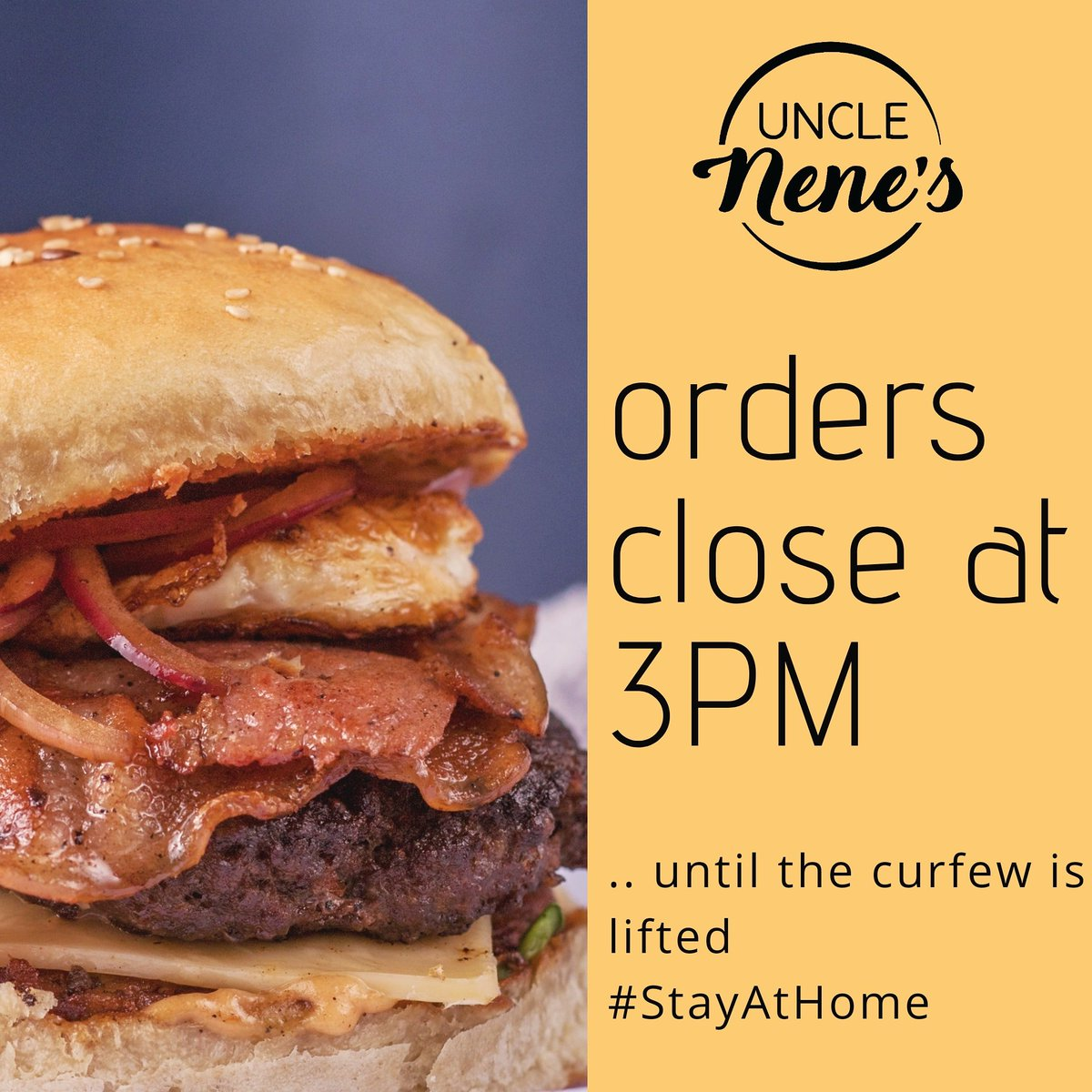 ⭐ORDERS CLOSE AT 3PM⭐ All burgers are served with our signature delicious seasoned fries and slaw😋 Call or text 0736713761 to order lunch. WE DELIVER 🛵 #unclenenes 🇰🇪 #bestburger #yum