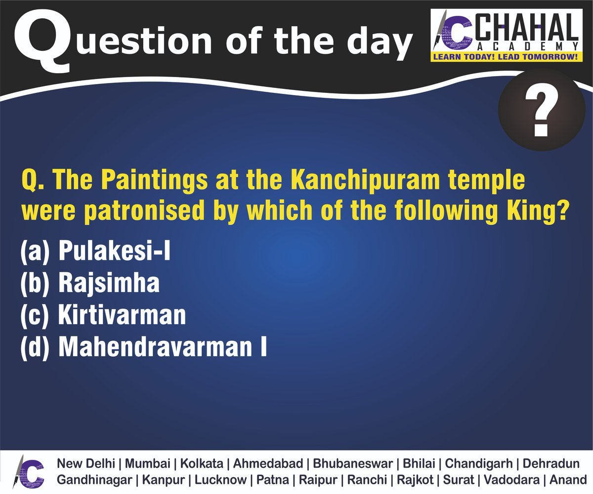 Question of the Day  Answer - B  #30thMarch2020 #Questionoftheday #UPSC2020 #IPS #IBPS #governmentexam #Currentaffairs #iasquestion #UPSCQuestion2020 #dailyquiz #coachinginstitute #iascoachingcenter #IASquestions #civilserviceexam  Visit:- http://chahalacademy.compic.twitter.com/Gh2PFG9FPp