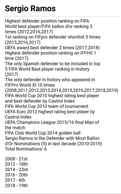 Happy birthday to Sergio Ramos the greatest defender in this decade modern era