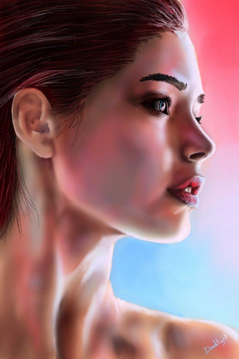 Test colour 2 #woman #portrait #digitaldrawing #digitalpainting #digitalart #drawingvsreality #drawing #art #painting #wip #workinprogress #stepbystep