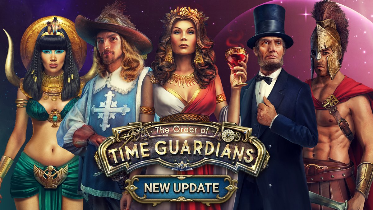 Rewind your clocks Time Guardians!  It's time to unfold a new mysterious story with a brand-new update. We've added many new features! Update the game at your Appstore or Download it NOW! https://t.co/YXPZyh5oBE https://t.co/813ufCJDNU