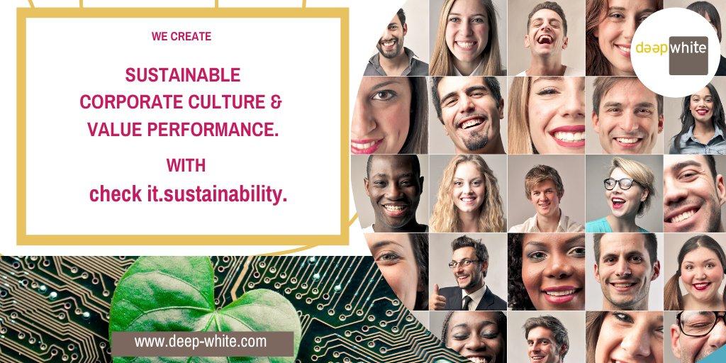 Stärken Sie in #Corona die Widerstandsfähigkeit Ihrer #Unternehmenskultur #nachhaltig. Mit check it.sustainability von @_deep_white_. Wir stehen für Value Performance. Mehr in unserem #Webinar am 17.04. #GegenwartVerändern #ZukunftGestalten #VerantwortungÜbernehmen #CSRpic.twitter.com/gpRXdGciL4