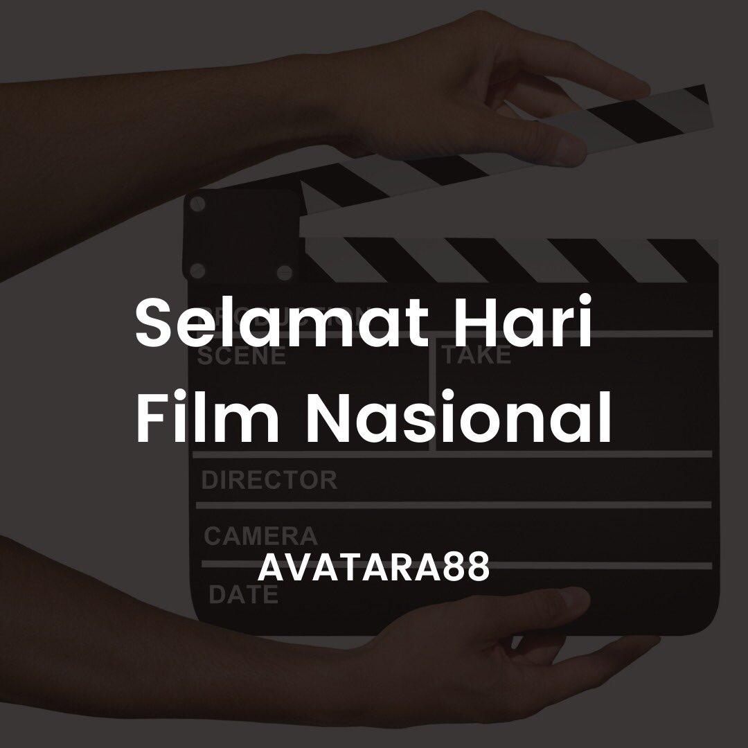Selamat HARI FILM NASIONAL.  Terima kasih selalu mendukung Perfilman Indonesia. Pasti akan segera BERKARYA bersama lagi.  #harifilmnasional  #avatara88