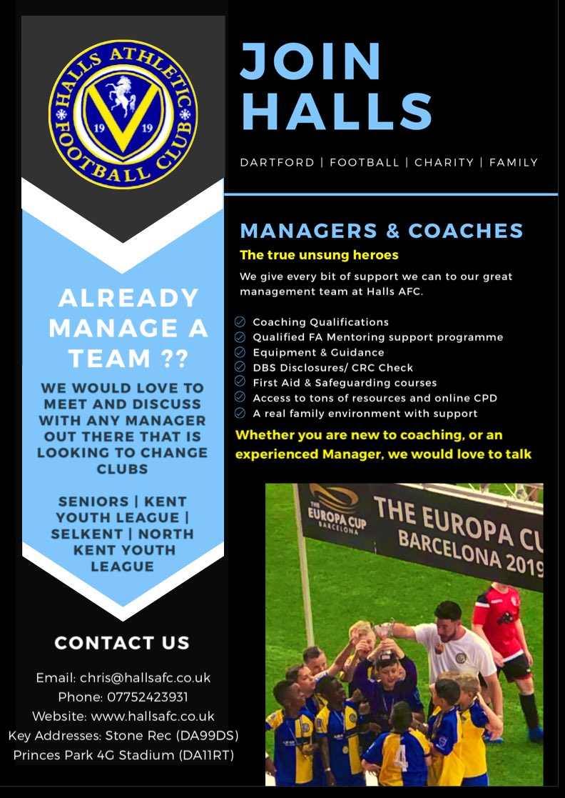 test Twitter Media - Any Managers or Teams out there looking to join a new fresh Club 💙 chris@hallsafc.co.uk https://t.co/BBMF9J6C0p
