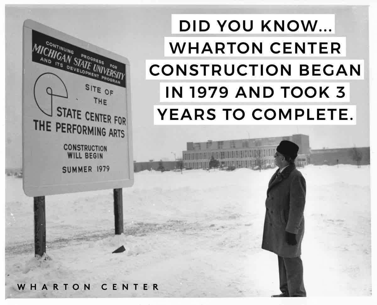 Today we're bringing you a little Wharton Center historical trivia! #WhartonHistory