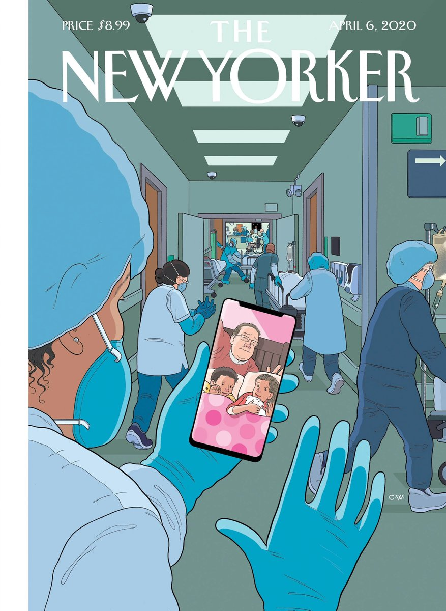 'Bedtime' by Chris Ware for the @NewYorker. I think I got something in my eye.