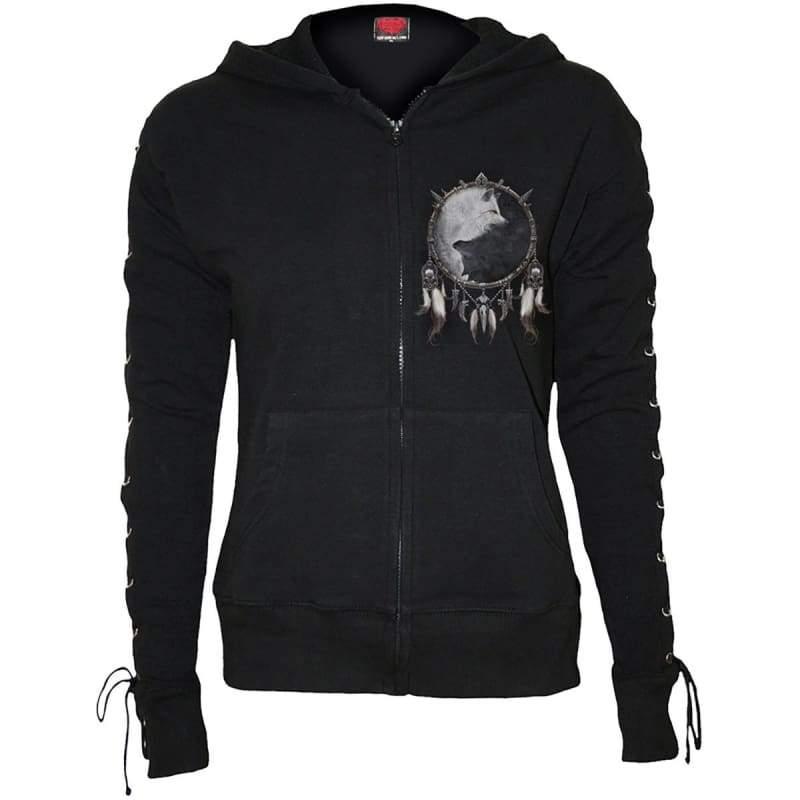 WOLF CHI - Laceup Full Zip Glitter Hoody Black  $  81.99.   https://pooo.st/grgUi  #jacket #coat pic.twitter.com/M4uDtnW5Pa