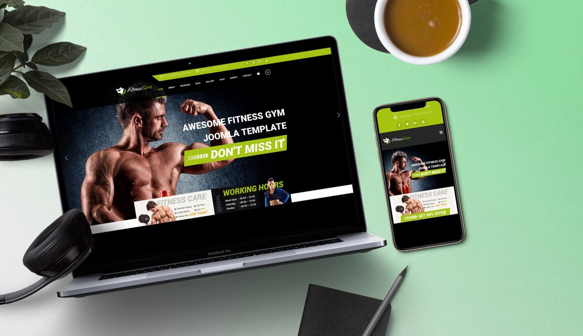 UPDATED: Fitness Care - Responsive Joomla Template for Gym Updated version available for download   https:// buff.ly/3bC83MJ       #joomla #beauty #fitness #gym #health #healthcare #meditation #spa #sport #yoga #web #webdesign #joomlacms #cms #joomlatemplate #joomlatheme<br>http://pic.twitter.com/FGB7Gs52eh