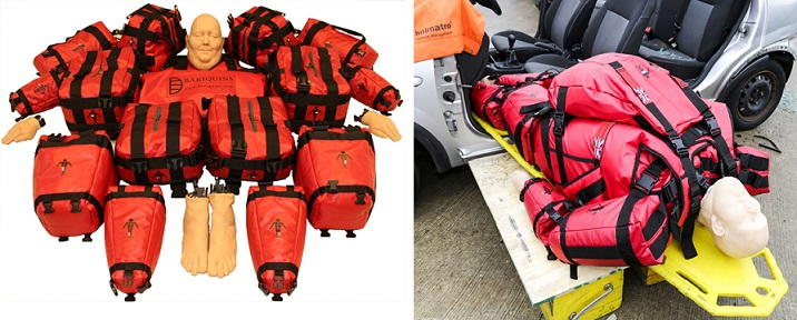 The 25st/350lb/159kg #Bariatric #Training mannequin. 15 weighted parts -max wt 16kg so 1 person can carry. Assemble in <10min  #Fire #Paramedic #Ambulance #NHS #Nurses #Rescue #HART #Firefighter #SAR #ISAR #Hospital #Carers #BariatricTraining #PatientSafety