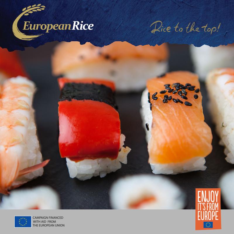 A simpler piece of sushi is a fish fillet on a padded rice ball. قطعة أبسط من السوشي هي فيليه سمك على كرة أرز مبطنة.  #europeanrice #eu_rice #enjoy #european #rice_eu #EnjoyItsFromEurope 👉