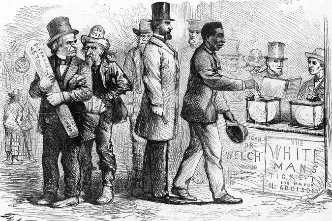 """Merrell R. Bennekin on Twitter: """"U.S. adopts 15th Amendment, March 30, 1870  Following its ratification by the requisite three-fourths of the states,  the 15th Amendment, granting African-American men the right to vote,"""