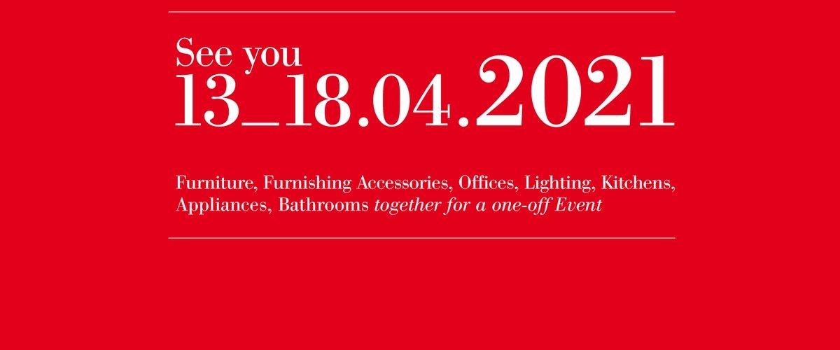 El #SaloneDelMobile cancela la edición 2020 por el COVID-19. La cita de 2021 promete ser muy especial: por primera vez, todas las exposiciones bienales (EuroCucina, FTK, la expo de baños y Euroluce) confluirán con los principales salones del evento. #SalonedelMobile2021 #iSalonipic.twitter.com/zllNp1mYnt