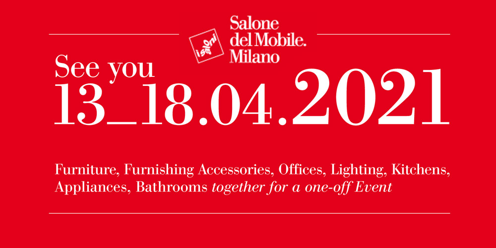 Il Salone del Mobile, la kermesse internazionale più importante al mondo per l' #arredo e il #design, salta l'edizione 2020 e slitta direttamente al 13_18 Aprile 2021.  #SaloneDelMobile #SaloneDelMobile2020 #iSaloni #Eurocucina #Milano #emergenza  #COVID19 #italypic.twitter.com/Lb8wesiJPT