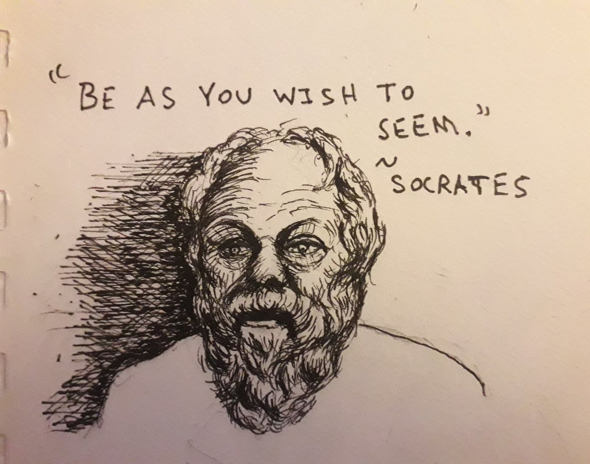 #socrates Be as you wish to seem. #pendrawing #kunstpic.twitter.com/nvEpwT2oia