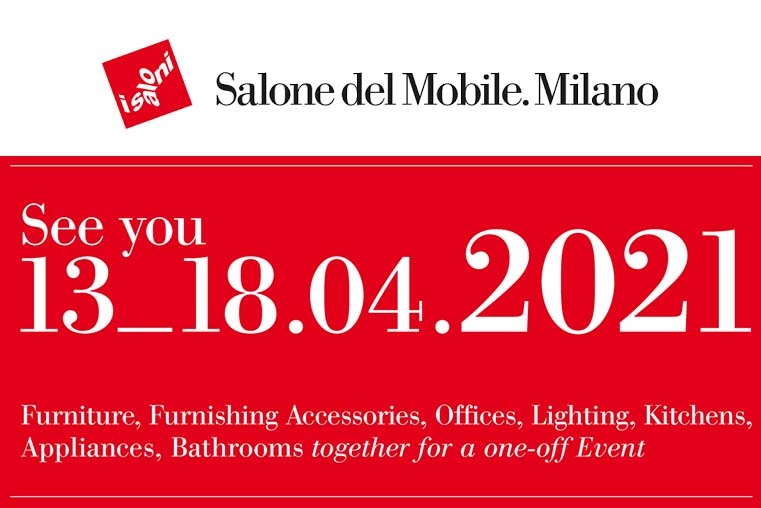 The #SalonedelMobile.Milano 2020 has been suspended. The event will take place in April 13-18, 2021  The 2021 edition will celebrate the 60th anniversary in a special event for the sector. For the first time all biennials will be presented simultaneously https://news.infurma.es/home-slider/salone-del-mobile-milano-postponed-to-2021/22302…pic.twitter.com/QHpp4OqKuD