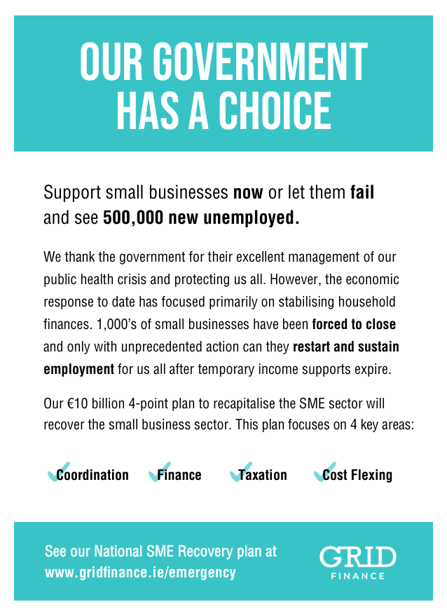 Our ad in yesterday's @businessposthq. We need radical support now to ensure that when our public health professionals and government officials have won the battle that we have a #smallbusiness economy that still works. Our proposals at: https://t.co/TPLwGxmwIP https://t.co/hngKNovC1w