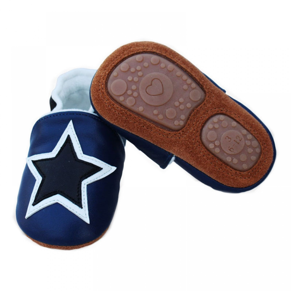 #model #cool Baby's Genuine Leather Plush Anti-Slip Moccasins