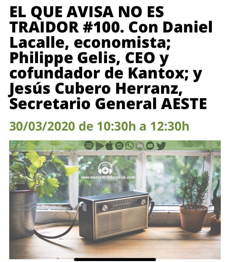 test Twitter Media - En breve entro en @MasQUEunaradio para hablar sobre la situación de las #personasmayores ante el #Covid_19 @AESTE_oficial https://t.co/CNi5Got466
