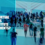 Image for the Tweet beginning: Can Virtual Events Substitute Real