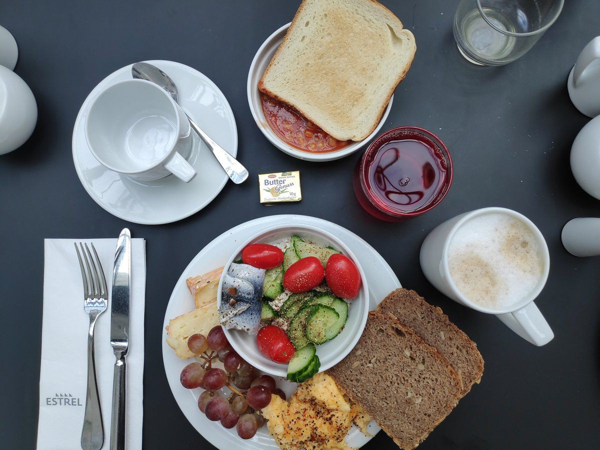 #PositiveVibes for #Monday... Estrel Breakfast! We look forward to being able to set up our delicious #buffet for you again in the (hopefully) not to distant future. Do you have any pics of our #breakfast? If so, add them to the comments! #EstrelBerlin #Berlin #Neukölln #StayHome