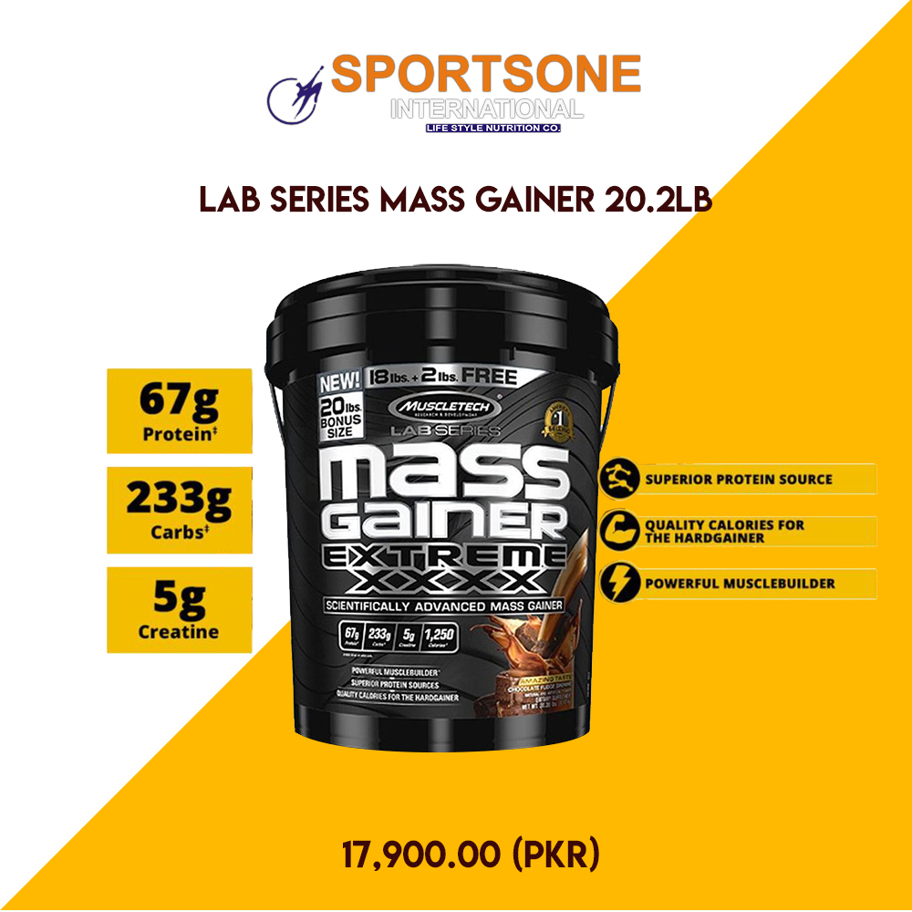 A whopping 67g of quality protein per serving Perfect for the hard gainer Powerful muscle building formula Manufacturer: Muscletech  To Place order, Click  Or Call on 042-36815429  #Weight gainer #Fitness #20.2lb #Chocolate fudge brownie