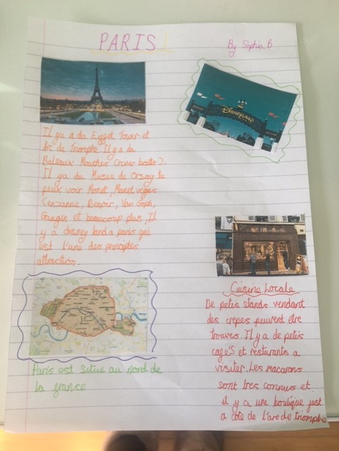Year 7 have been researching French cities. Here's a selection of their work. Fantastic work, everyone! #stjohnsathome