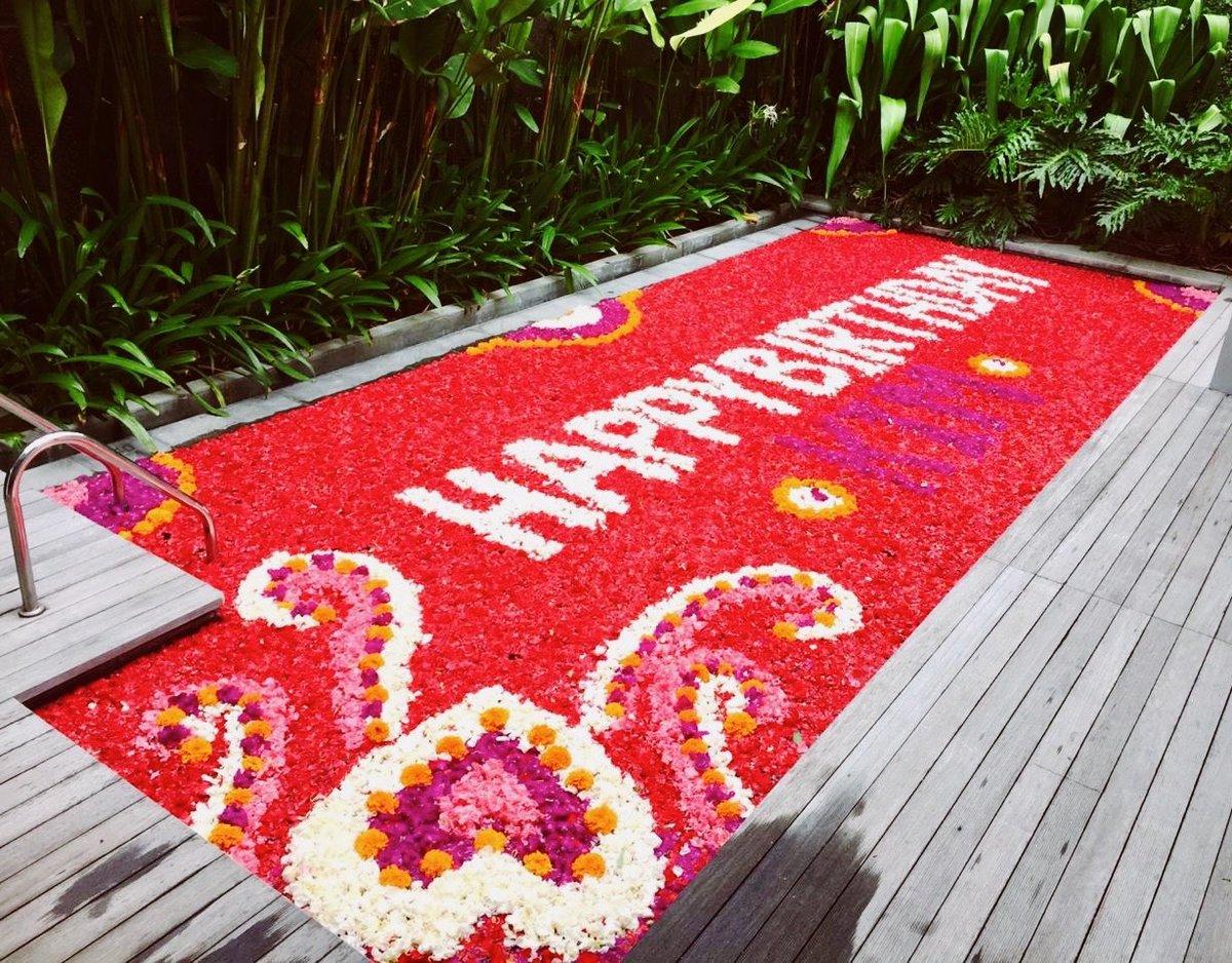 Happy Birthday with Flowers To feel loved and make them feel loved, once again 💜💜💜 • • • #abiavillalegian #abiacafelegian #abiaspalegian #honeymoonvillas #instatravel #instapassport #instago #instagood #igtravel #mytravelgram #vacation #legian