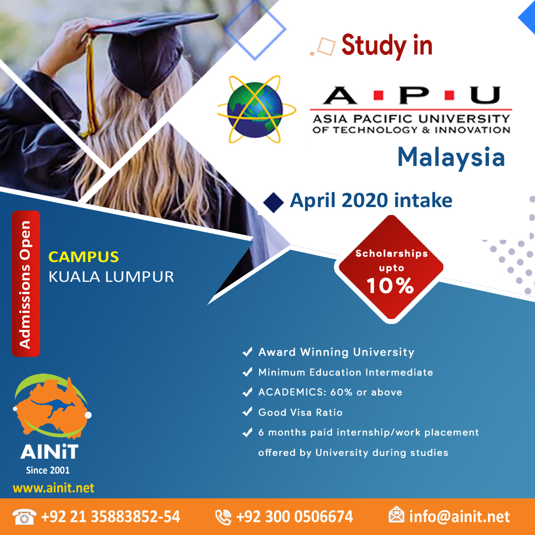Choose your study destination | Choose Malaysia  Admissions Are Open~ Apply Now  Fix An Appointment Now: 0300-0506674  Email your CV: info@ainit.net  Website: http://www.ainit.net  #AsiaPacificUniversity #StudyAbroad #StudentVisa #Universities #globaleducation #StudyinMalaysia pic.twitter.com/upYz46bbtQ