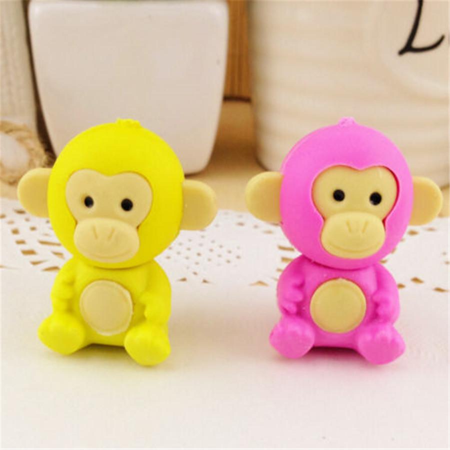 #puppy #adorable Creative Monkey Pencil Eraser