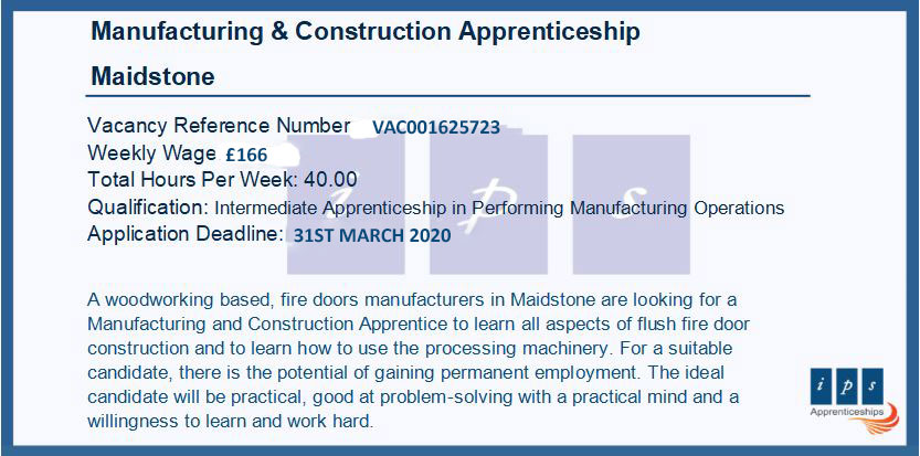A great opportunity to learn all aspects of flush fire door #construction and to learn how to use the processing  #machinery.  Looking for a #PerformingManufacturingOperations #Apprenticeship?  Check this outhttps://findapprenticeship.service.gov.uk/apprenticeship/-516619 …  #ApprenticeshipVacancy #investinyourfuture pic.twitter.com/AhDtYoLfIx