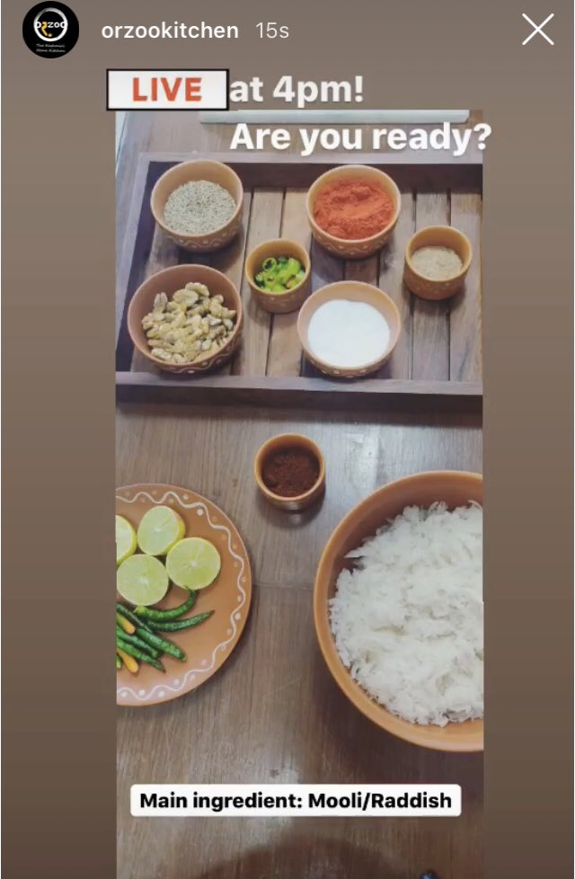 #MondayMotivaton Let's cook #HealthyFood. Join me on today's #Instagram live video & learn a new #Recipe. #StayHome no extra #ingredients. Only your masala box & basic everyday #VEGETABLES . #HealthForAll #FightAgainstCoronavirus #21days21recipes Link:
