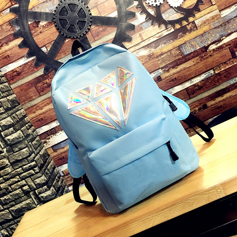 #style #ootd Kids' Fashion Diamond Printed Backpack