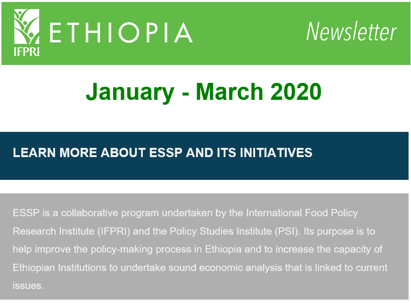 ESSP's Newsletter for January - March 2020 is out now.