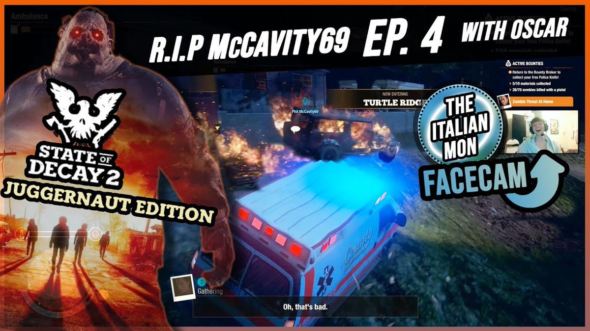 | #stateofdecay2 EP. 4 with Oscar is now LIVE! This ones a funny! #gaming #sod2 #multiplayer #online #videogames #videogame #video #newvideo #daily #daily #me #facecam #games #gamer #lockdown #quarantine #checkitout #newepisode #picoftheday #funny #zombies