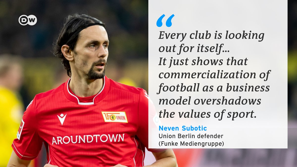 Union Berlin's Neven Subotic wants football clubs to show more solidarity in light of the #coronavirus outbreak.