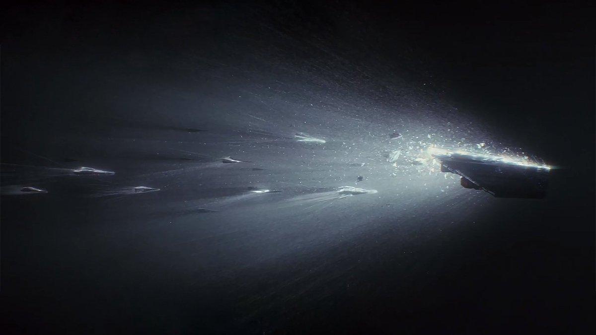 """Ce moment impressionnant, sourd, pesant. Une des plus belles scènes de la dernière trilogie #StarWars : le """"lightspeed crash"""" dans #TheLast…"""