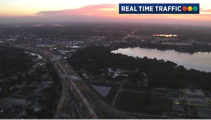 I-4 is up to speed at sunrise in #Orlando. #News13Orangepic.twitter.com/CeoZEuVbLJ