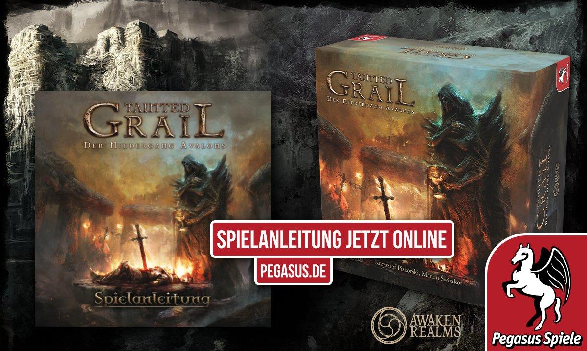 Die Dunkelheit naht! Schon in wenigen Monaten wird die deutsche Version von TAINTED GRAIL verfügbar sein. Aber schon jetzt könnt ihr einen Blick in die Spielanleitung werfen, denn diese ist ab sofort unter https://pegasusshop.de/sortiment/spiele/expertenspiele/10415/tainted-grail-deutsche-ausgabe… verfügbar.pic.twitter.com/dgnCCAzMSH