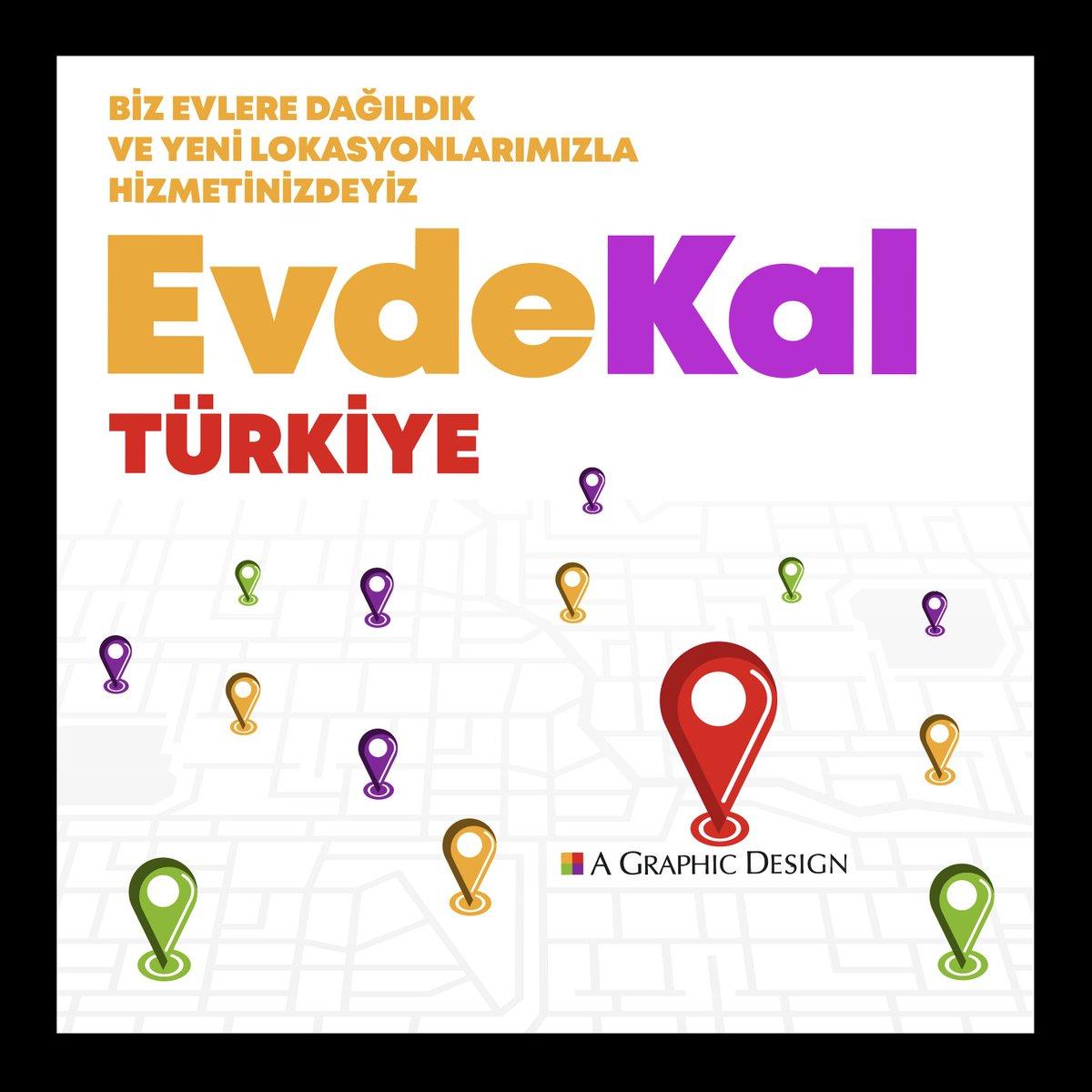 Biz evlere dağıldık ve yeni lokasyonlarımızla hizmetinizdeyiz. #evdekal Türkiye! https://t.co/FikrxXIwJU