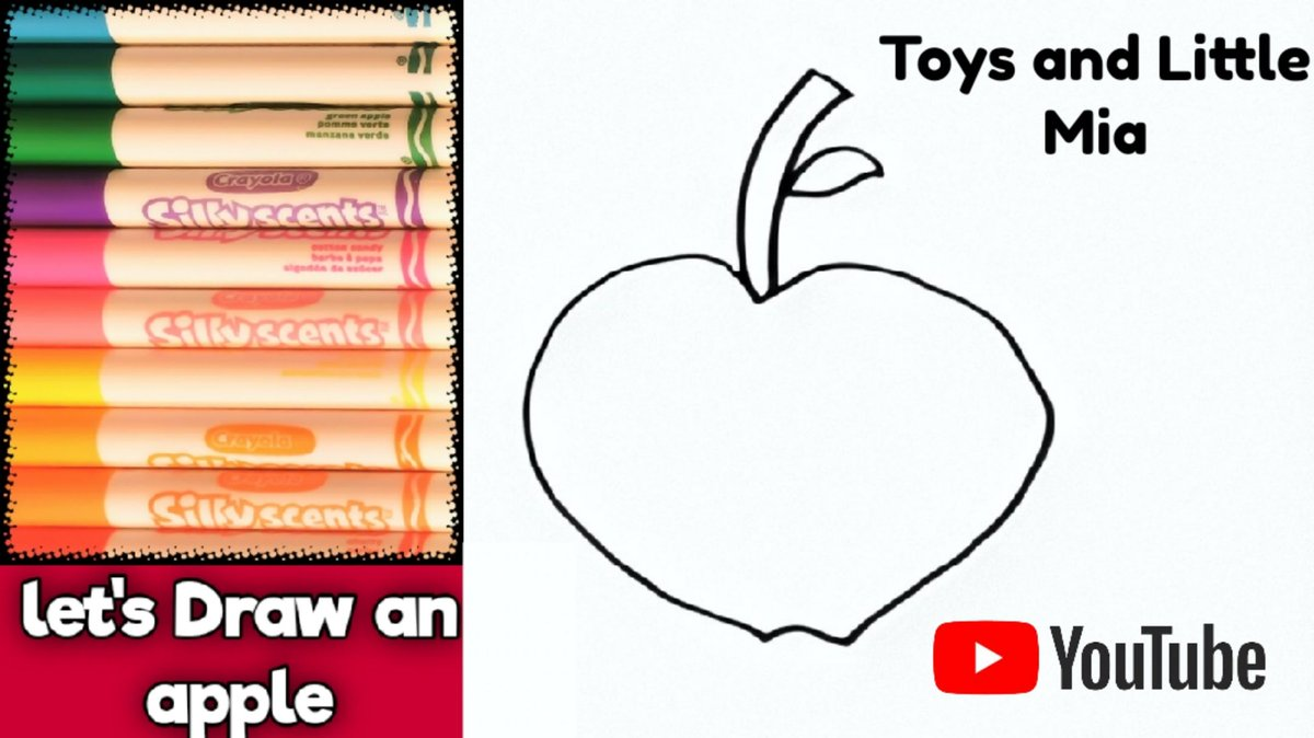 Learn to draw an Apple in this fun YouTube video on Toys and little Mia. . . . . . . . #artforkids #howtodraw #easy #drawing #colouring #drawanapple #learntodraw #simple #fun #forkids #drawings #stepbystep #easyappledrawing #colouringpage #learncolours #youtube #youtubekids