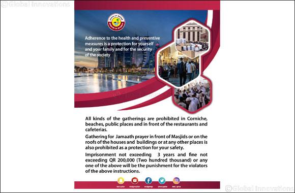 "Awareness Poster From Ministry of Interior on ""Risks of Gathering During the Corona Virus Disease COVID – 19 Season""    #instafollow #instalove #f4f #followforfollow #webstagram #awareness #poster #risk #gathering #corona #covid19 #season #qatarprnetwork"