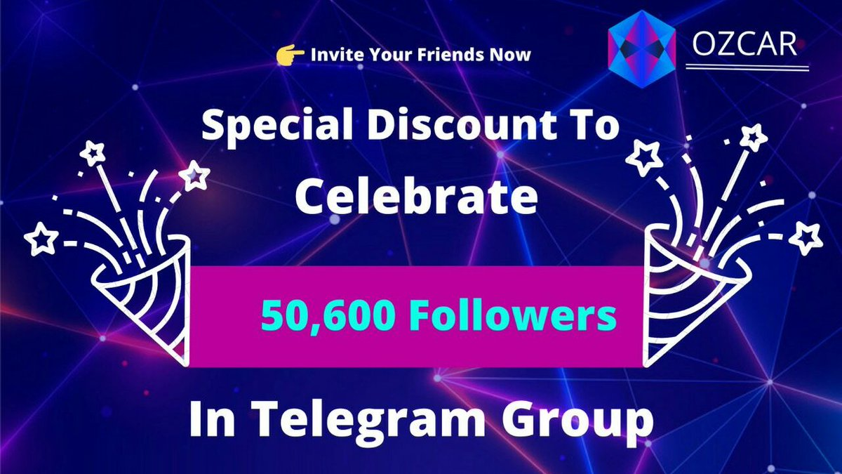 We are glad to announce that our official Telegram group has now more than 50600 members. To celebrate it, Ozcar is offering special 50% discount on Pre Sale. The offer is limited to First 100 buyers.  Join Pre Sale Now: https://cutt.ly/er6qnqt  #ozcar #cryptocurrency #ETH pic.twitter.com/hNySY1PiHr