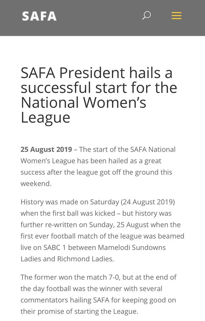 Thank you for the platforms availed to #women _encompassing players and those running the admin side of things. We've come a long way yet still have so much further to go.We are writing our own history @SAFA_net @SasolLeague @Official_SABC1 @SPORTATSABC  #SNWL #Limitless<br>http://pic.twitter.com/GWI2RVTezg