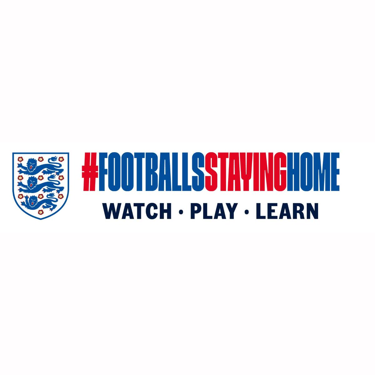 Introducing #FootballsStayingHome! Well let our captains tell you more. Over to you, @stephhoughton2 and @HKane...
