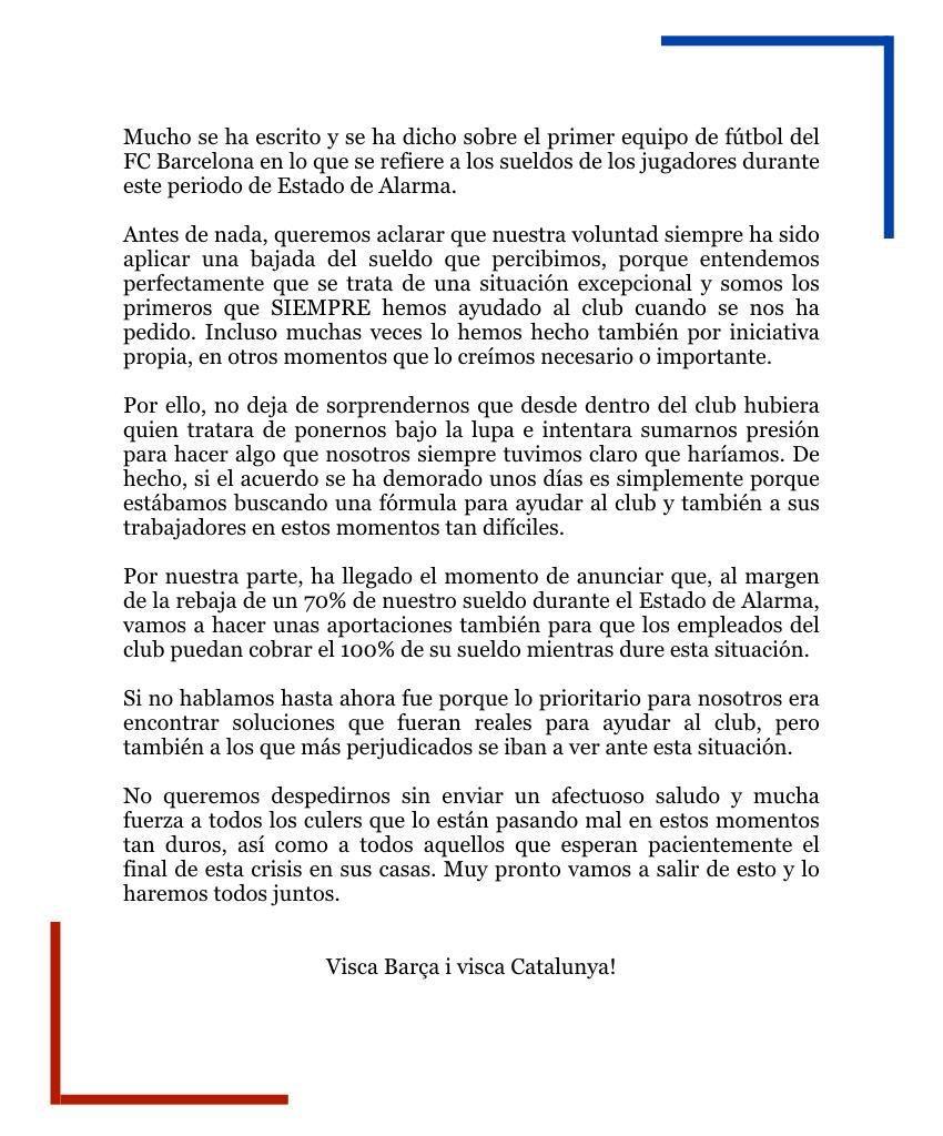 Gerard Piqué (@3gerardpique) on Twitter photo 30/03/2020 12:04:55